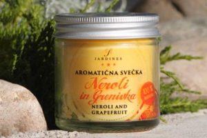 aromaticna svecka neroli in grenivka