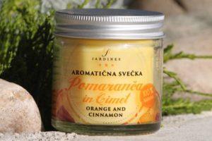 aromaticna svecka pomaranca cimet