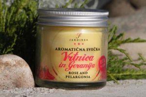 aromaticna svecka vrtnica geranija